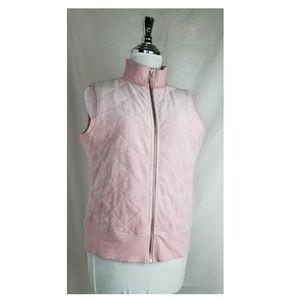 Vintage Velvet zip up vest